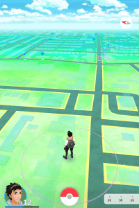 The Petals floating around the Pokestop indicate the use of a Lure Module