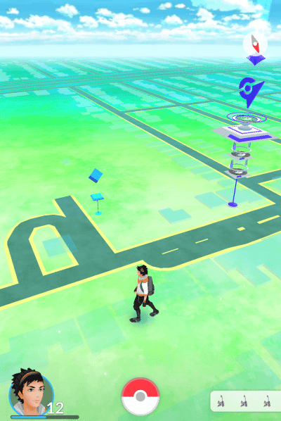 Seen here: a Pokestop (Left) and a Pokemon Gym (Right)