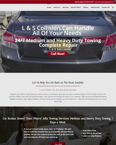 auto-body web design