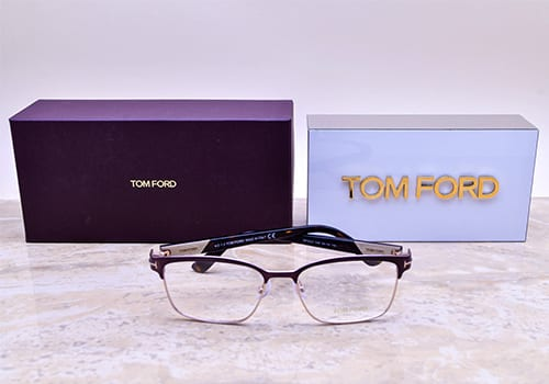 Tom Ford Glasses Product on Marble Tabletop