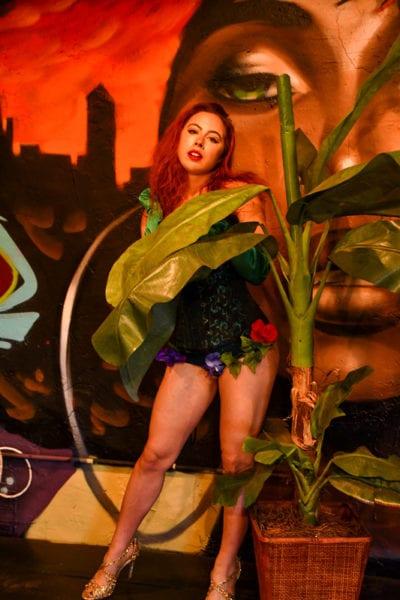 Aubrey - redhead model in poison ivy cosplay